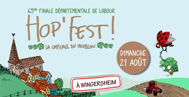 affiche de la hop'fest 2016