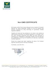 Non GMO Certificate