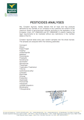 Pesticides analyses