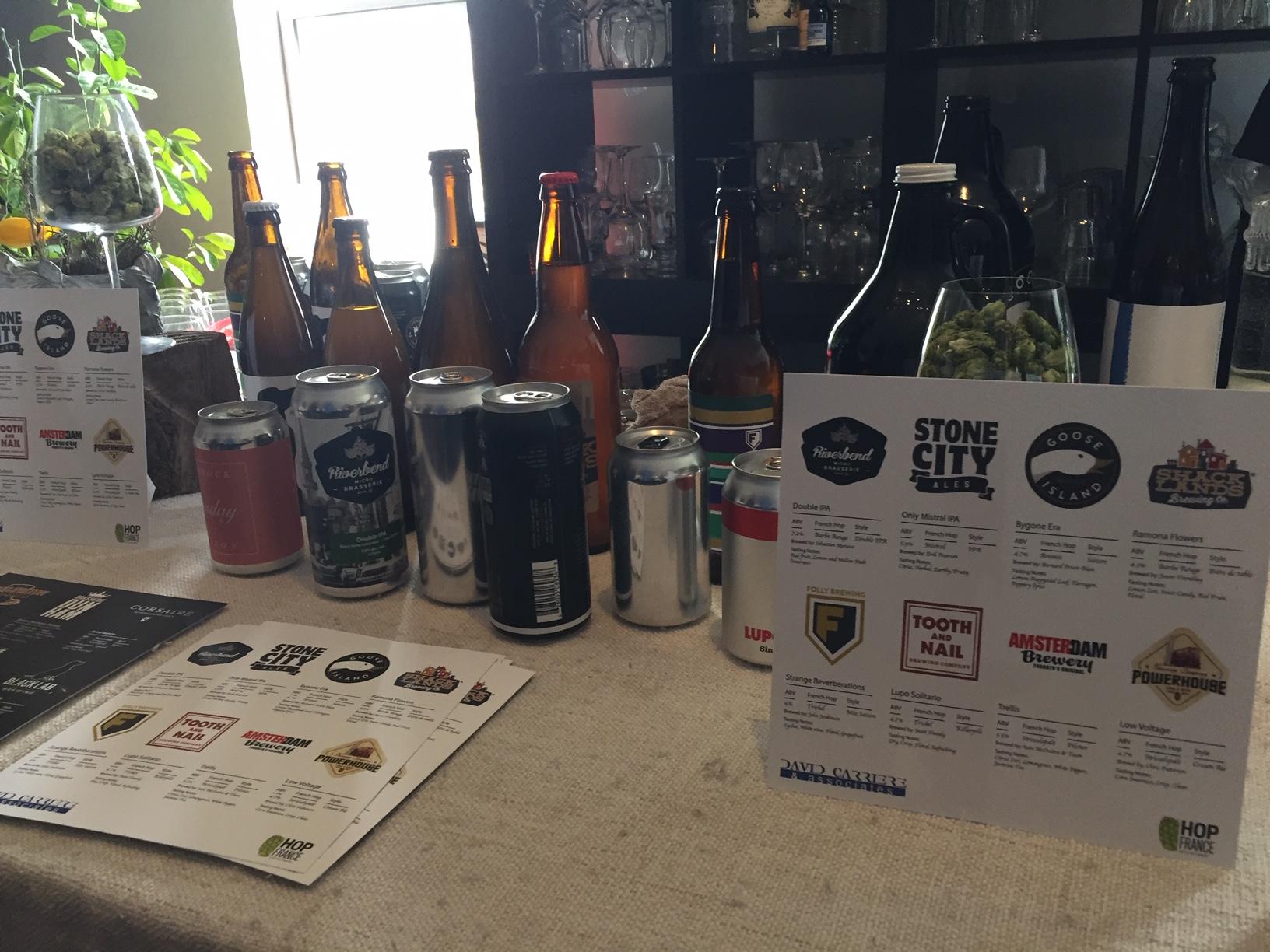 Bières commerciales aux houblons alsaciens