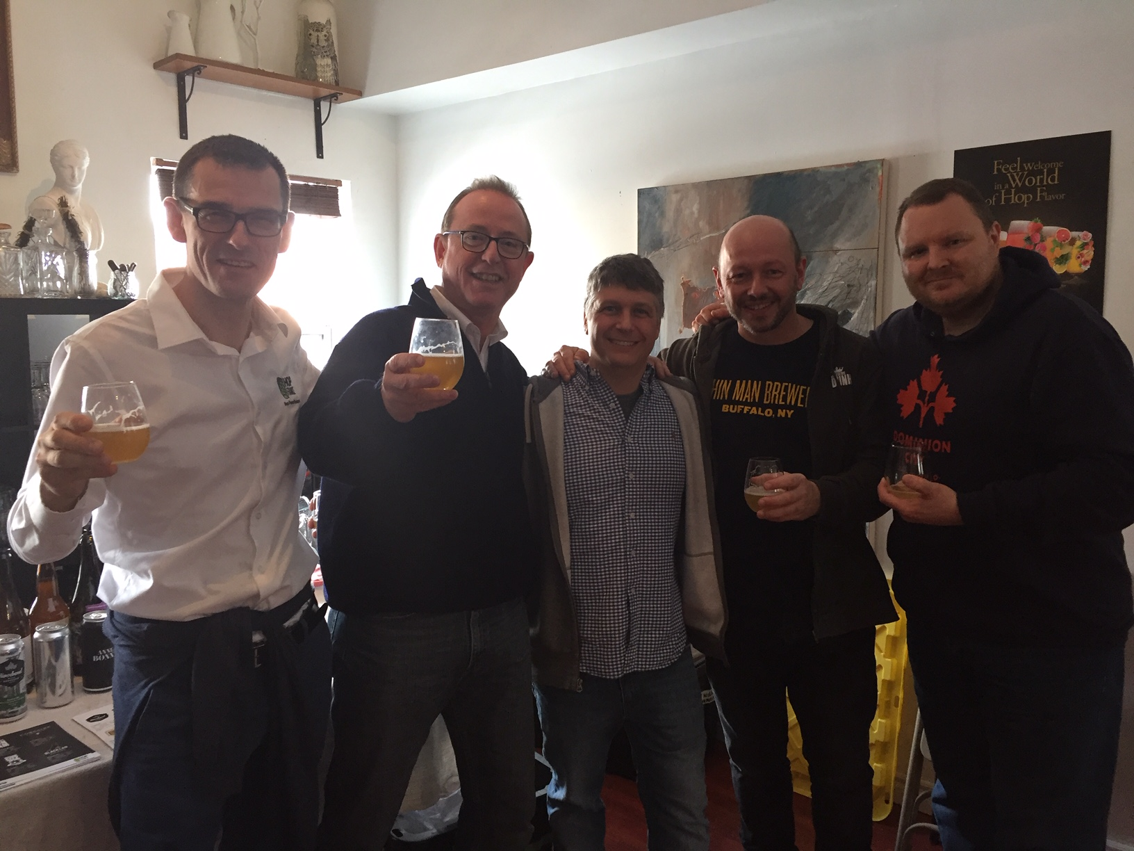 Francis HEITZ, Antoine WUCHNER, David CARRIERE, Eloi DEIT (Brasserie DUNHAM), Jeff McCAULEY (David Carrière Associes)